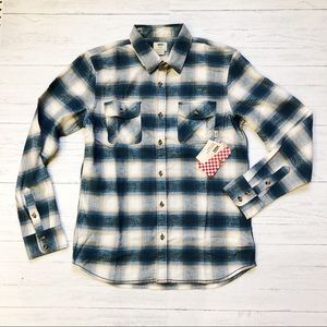 NWT Men's Vans Flannel Button Down Shirt
